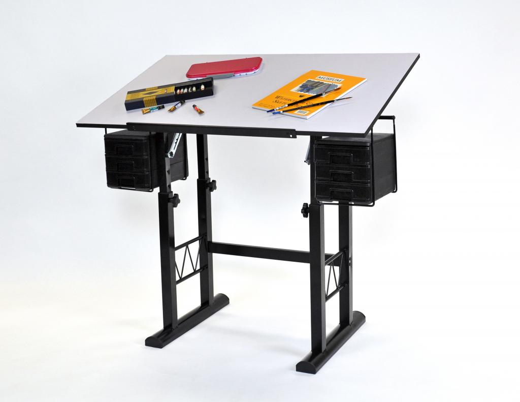 Liz Drawing Table With White 23 5 X 40 Top Aatva